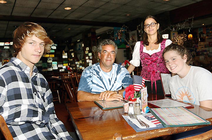 At Schneider's restaurant in Avon Ioana Ruiz waited on Jack, Grace and Todd Goodman, all of Ocean Grove.