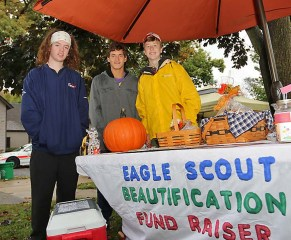 At the Ocean Grove Fall Festival wereTim Natoli, Evan McGovern and Kel Hakim, all of Ocean Grove. They were helping out at the Ocean Grove Beautification Project table.
