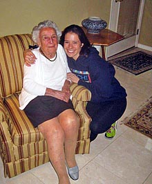 Coaster Photo - Ann Taborn, who owned and operated Taborn's in Asbury Park with her husband, is pictured with her great-granddaugter Tara Fantini Cadet.