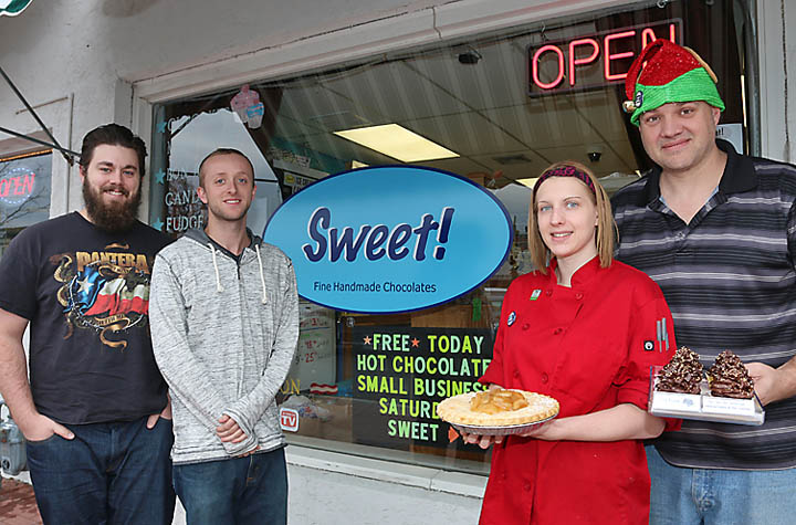 Pictured at Sweet were Eric Jones, Oliver Parsons and Cali and Jason Lowe.