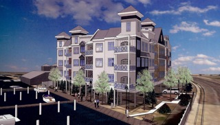 This is an artist rendering of the proposed condominium project planned in Neptune