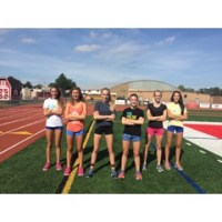 Photo by Paul Looney - The Ocean Township High School girls cross country team won four of its first seven dual meets. From left to right are Emily Dorony, Morgan Rue, Michela Cholak, Erica DiNapoli, Sarah Etter and Bella Downs.