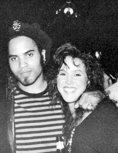 Lenny Kravitz and Susan Mansfield are pictured at the Green Parrot,  a popular nightclub on Route 33 in Neptune, during the 1980s.