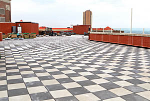 Coaster Photo - A rooftop patio is being constructed on top of the Berkeley Oceanfront Hotel and should be open n two weeks.