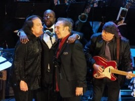 Coaster Photo by John Cavanaugh - Steve Van Zandt (right) performing at the New Jersey Hall of Fame induction ceremony.