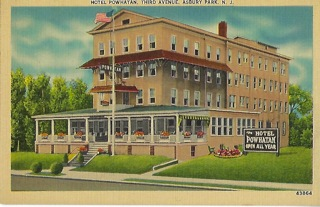 The Hotel Powhatan on Third Avenue in Asbury Park was built in 1911.