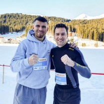 Schneller Boxer am 16. Swiss Snow Walk & Run in Arosa
