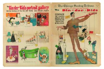 "Lyonel Feininger, ""The Kin-der-Kids: Feininger the Famous German Artist Exhibiting the Characters He Will Create"" (1906)"