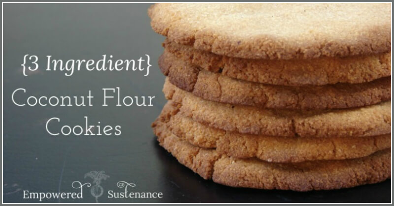 3 Ingredient Coconut Flour Cookies from The Coconut Mama