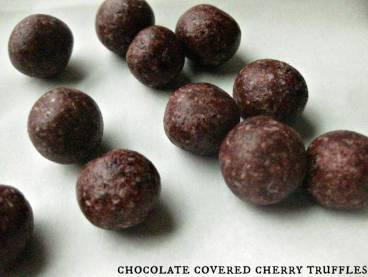 Chocolate Covered Cherry Truffles from The Coconut Mama