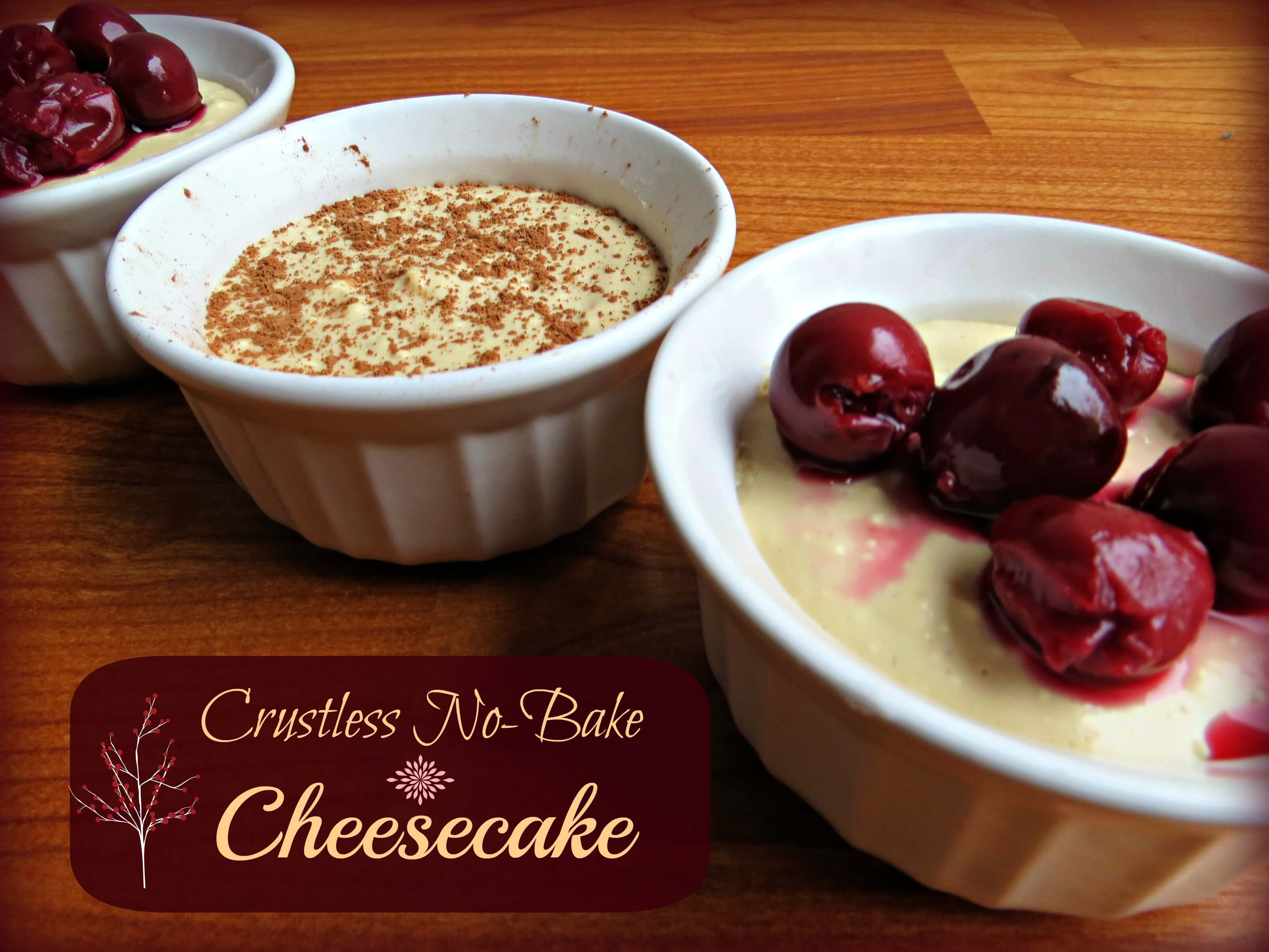 Crustless No Bake Cheesecake from The Coconut Mama