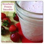Healing Strawberry Gelatin Protein Smoothie from The Coconut Mama