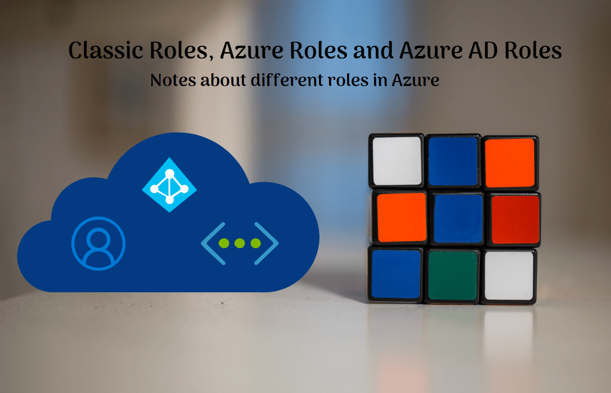 You are currently viewing Classic Roles, Azure Roles and Azure AD Roles
