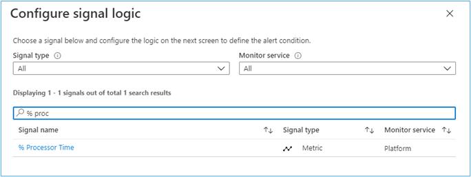 Azure Portal: Configure Signal Logic