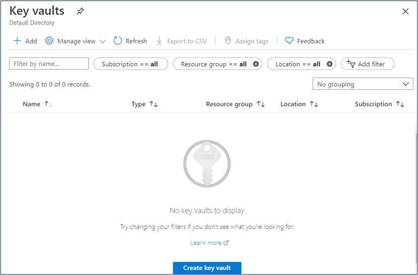 Azure key vaults