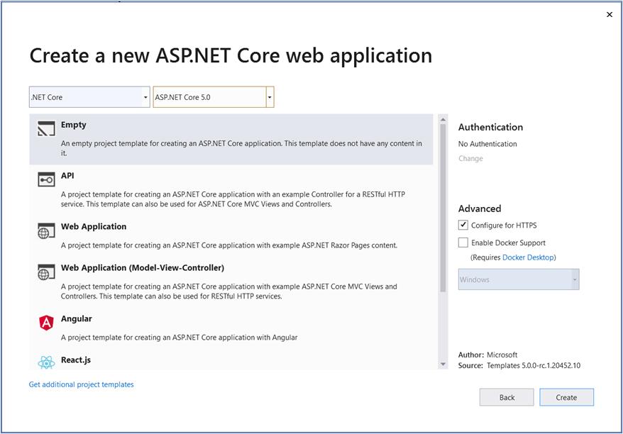 Visual Studio 2019: Option to target .NET 5