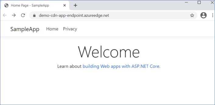 Azure CDN: Showing the same web app