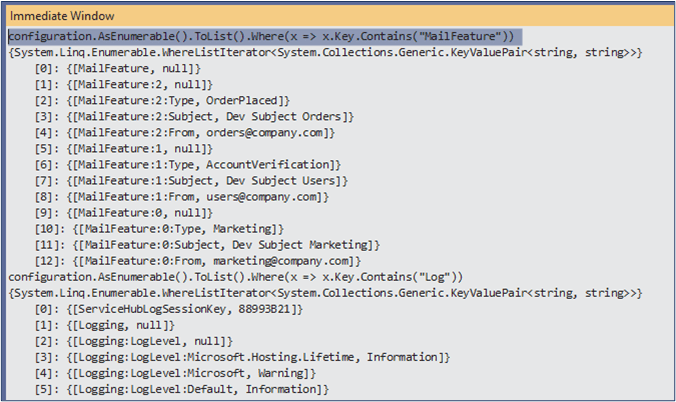 IConfiguration in .NET - Everything is key value pair internally