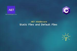 Static Files vs Default Files in ASP .NET Core Web Applications