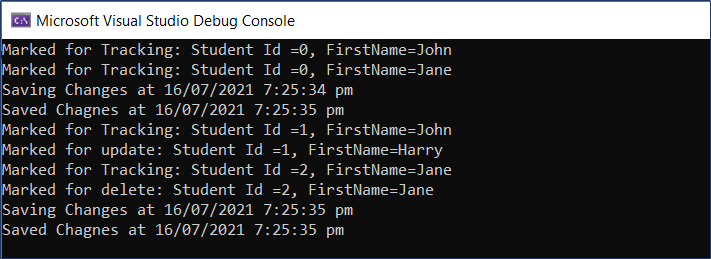 Subscribing to the .NET Events exposed by EF Core DbContext