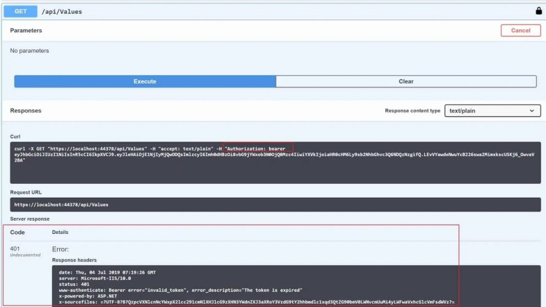 Authorization and authentication in web api