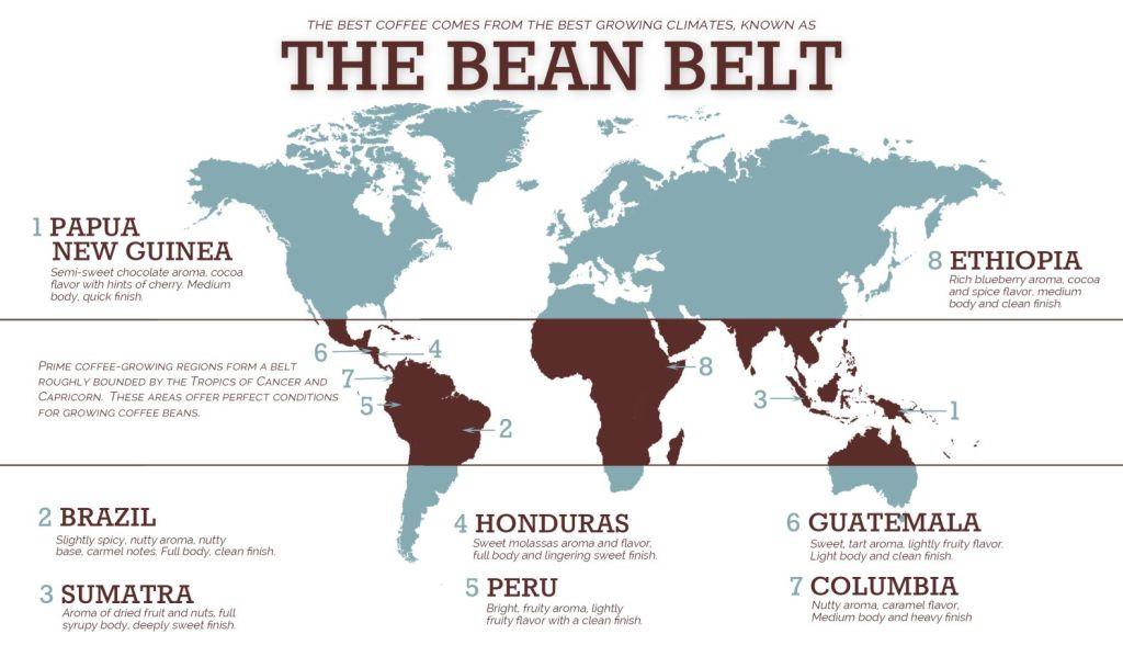 Bean Belt Map
