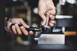 semi automatic espresso machines coffee tamping