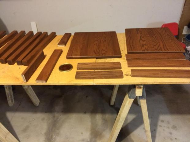 End Table Pieces Stained
