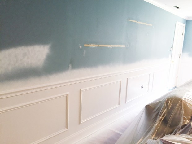 Wainscoting family room