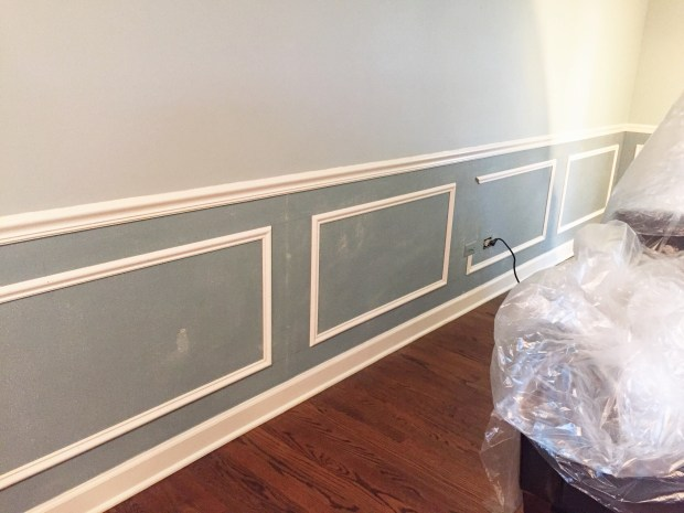 liv room wainscoting