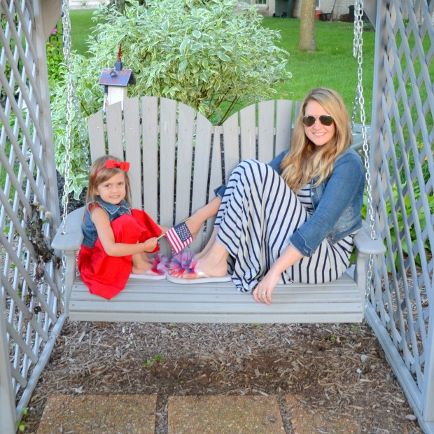 me and abby on swing