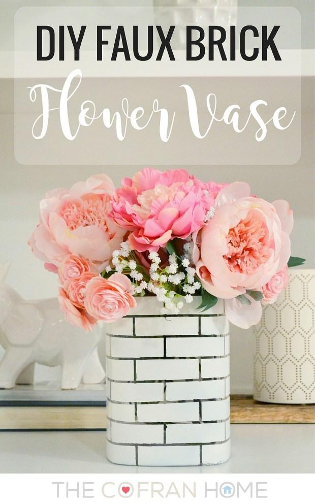 DIY Faux Brick Vase