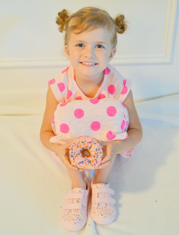 Abby with Donut