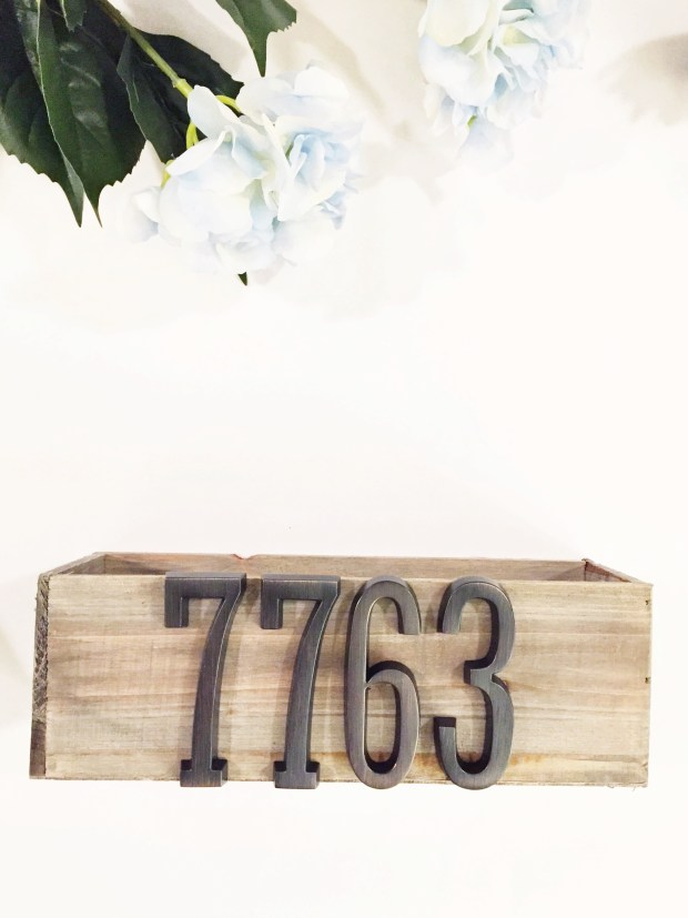 Numbers on box