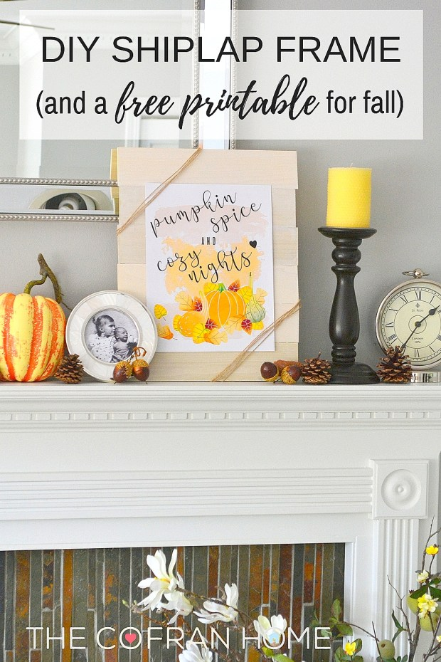 diy shiplap frame and free fall printable