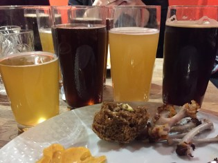 The beer tasting we had at a local brewery on Thursday night