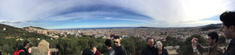The view of Barcelona from the top of Park Guell