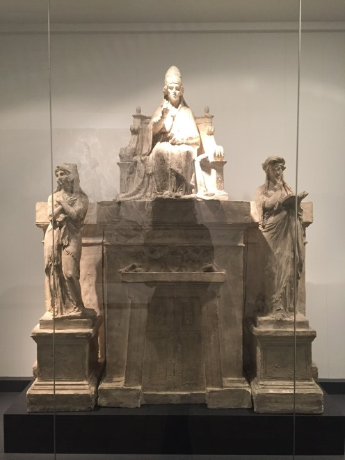 A model of the sculpture that becomes Pope Pius VII