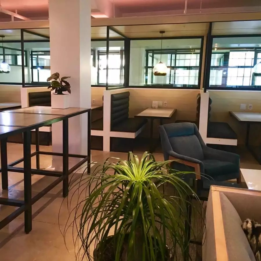 Lounge and Booths Available for Co-Working Office Space - The Collection