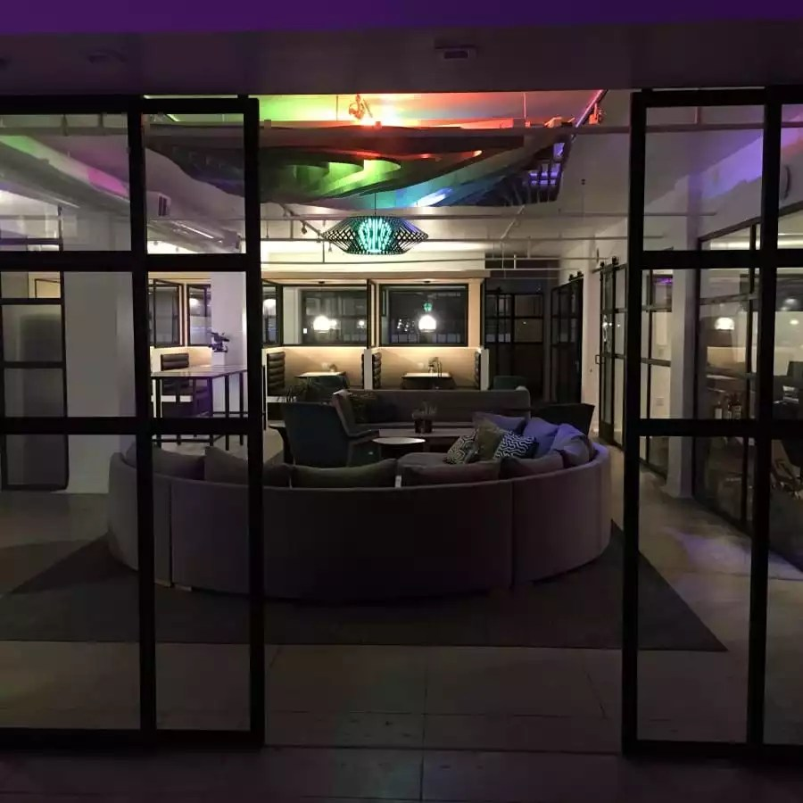 Lounge Space With Lights to Rent for Event Venue - The Collection
