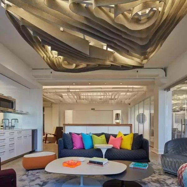 Beautiful Arch and Sofa Area in Our Private Offices - The Collection