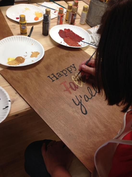 Handlettered quote class on wood board