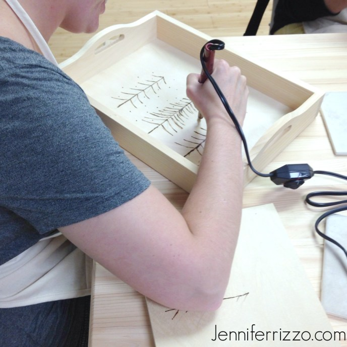wood burning class at The Collective lhe + makery