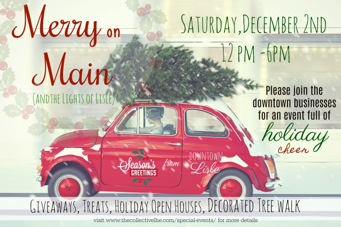 Merry on Main in Lisle,IL December 2nd