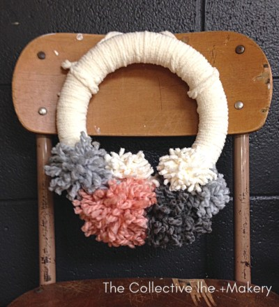 Pom pom Hygge Wreath The Collective lhe + Makery in Lisle, IL