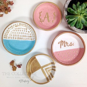 Hand painted ring dishes at The Collective lhe + Makery