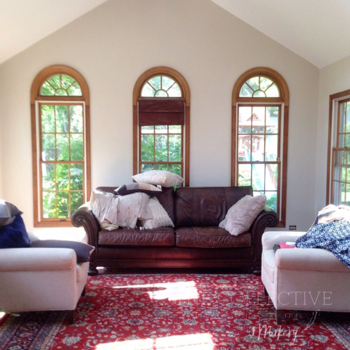 Interior sunroom restyling The Collective lhe + Makery , LIsle, IL