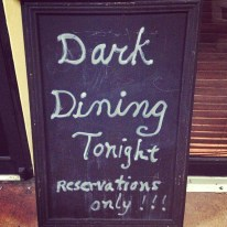 Dark Dining at Chef Adrianne's Vineyard Restaurant & Wine Bar