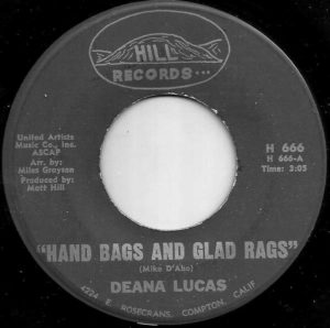 Deana Lucas ‎Hand Bags And Glad Rags / Cry It Out Baby