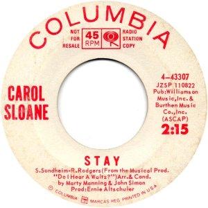 Carol Sloane – Music / Stay